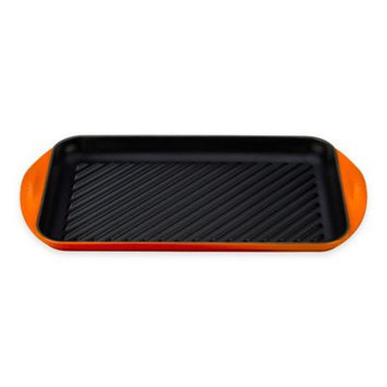 Le Creuset Signature Cast Iron Double Burner Skinny Grill - Flame