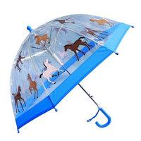 Foxfire Girls Blue Pony Clear Dome Umbrella