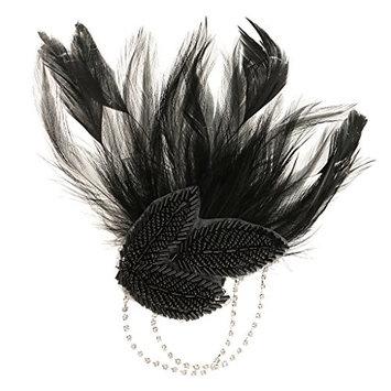 MonkeyJack Vintage Peacock Headband Bride Hair Clip 20s Gatsby Headpiece Lady Hair Accessory