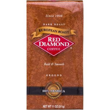 Red Diamond Coffee European Roast Dark Roast Ground Coffee, 11 oz