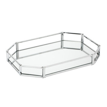 Octagon Vanity Mirror Tray