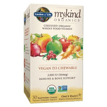 Garden of Life My Kind Organic Vitamin D3 Chewables - Raspberry-Lemon - 30ct