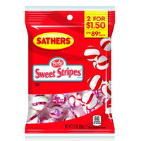 Sathers 7833 Peppermint Puffs Candy Case Of 12 - 2.2 Oz.