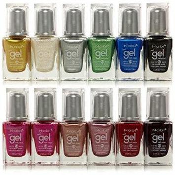 12pc Nabi Gel Nail Color Metallic Nail Polish Set of 12 Color #NG05-85 by Nabi