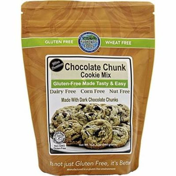 Authentic Foods Gluten Free Chocolate Chunk Cookie Mix, 1 lb 4 Ounces [2 Pack]