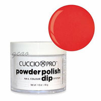 Cuccio Dip Red w/ Orange Understones 1.6 Oz #5544