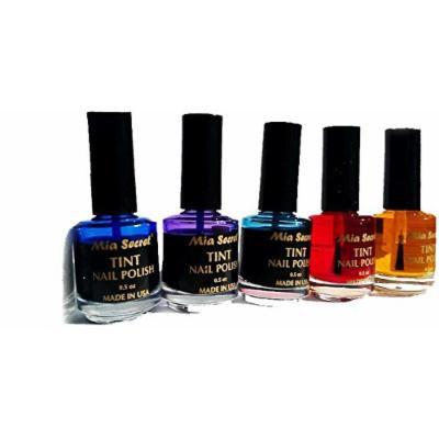 Mia Secret - Nail tint - Color transparent Nail polish for vitrals & Veil Effect 5 Colors