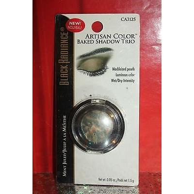 Black Radiance Artisan Color Baked Eyeshadow Trio Wet/dry Intensity Ca3125 Mint Julep