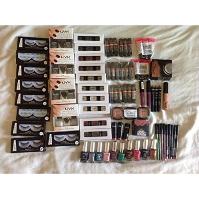 100 pcs Lot Brand Name Cosmetics FREE SHIPPING Loreal, Maybelline, NYX and..