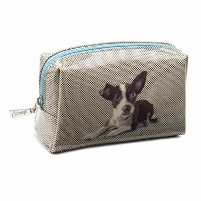 Catseye Cosmetic Makeup Beauty Bag, Etched Dog, Small