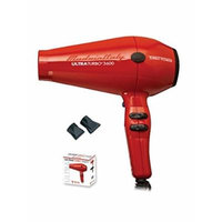 Turbo Power Ultra Turbo 3600 Hair Dryer - Red, Made in Italy