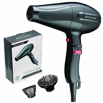 Corioliss Ottimo 5500 Ionic Generator Turbo Hair Dryer, 1625W Professional Salon Blow Drying Results, High Shine, Anti-Frizz
