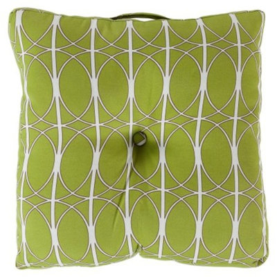 Surya Polyester Decorative Button Tufted Floor Cushion Pillow