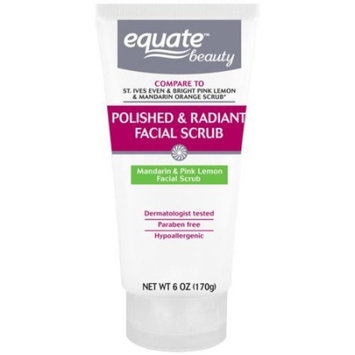 Equate Beauty Mandarin & Pink Lemon Polished & Radiant Facial Scrub, 6 oz