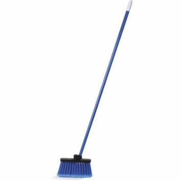 CFS 3686314 Duo-Sweep Wide Light Industrial Lobby Broom, Flagged - Blue
