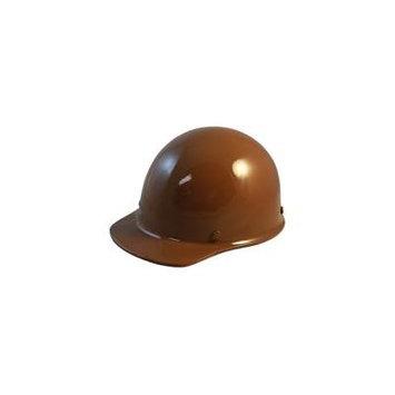 MSA SkullGuard Fiberglass Hard Hat- Cap Style With Staz On Suspension - Custom Brown Color