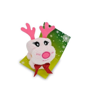 Couture Towel CT-SLRD001401 12 x 11 in. Dancer The Reindeer Towel Daisy Pink