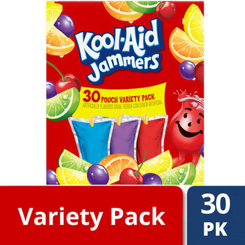 Kool-Aid Jammers Tropical Punch, Grape & Cherry Variety Pack, 30 ct. Box