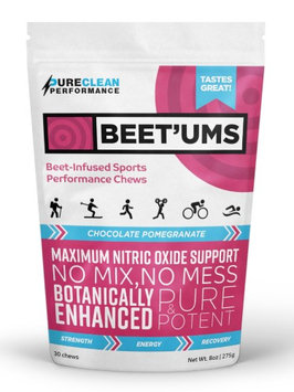 Pureclean Performance Pure Clean Performance Beet'Ums Beet-Infused Sports Performance Chews, Chocolate Pomegranate, 30 Ct