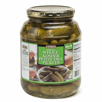 Daily Chef Fresh Pack Whole Kosher Petite Dill Pickes (46 oz.) (pack of 6)