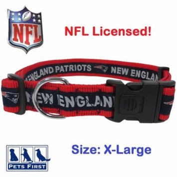 NFL New England Patriots Strong, Durable, Heavy-Duty Dog Collar, Officially Licensed