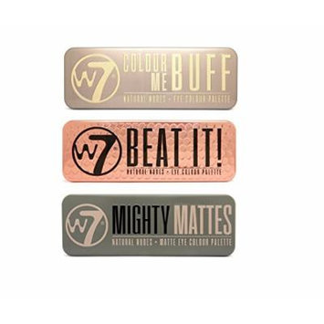 W7 Colour Me Buff, Beat It & Mighty Mattes Natural Nudes Eye Shadow Palette Set