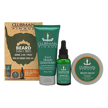 Clubman Beard 3 In 1 Trio: Beard Conditioner, Beard Balm, Beard Oil