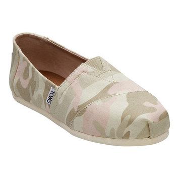 TOMS Birch Camo Women's Classics Slip-On Shoes - Size 9