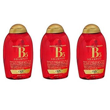[Value Pack of 3] OGX Moisture + Vitamin B5 Shampoo 13oz rebuild damaged hair lipids & improve moisturization. : Beauty