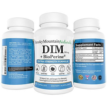 DIM 250mg Plus 3mg BioPerine, 50 IU Vitamin E, and 60mg Vitamin C (2 months supply). Promotes Beneficial Estrogen Metabolism. Vegan, Soy-Free, Dairy-Free, GMO-Free, and Made with Veggie Capsules