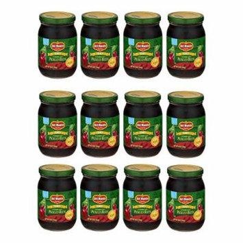 Del Monte Crinkle Cut Pickled Beets 16oz Glass Jar (Pack of 12)