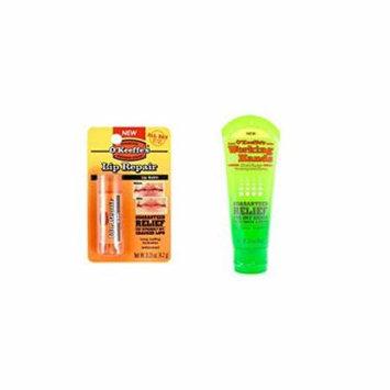 O'Keeffe's Working Hands Cream 3 oz. Tube & Original Lip Repair Stick