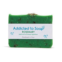 Addicted to Soap – Old Fashioned Natural Shampoo Bar 5 Ounces Eco-Friendly Solid Bar Shampoo for Men & Women Organic Coconut Oil Sulfate Free Leaves Hair Shiney Soft (Rosemary Shampoo Bar)