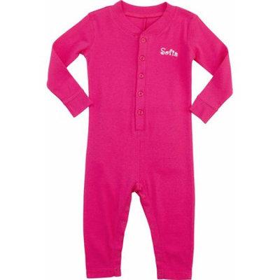 Personalized Ruffle Toddler Long John, Hot Pink