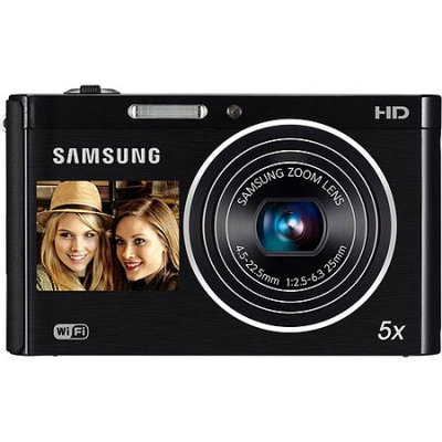 Samsung - DualView DV300F 160-Megapixel Digital Camera - Black