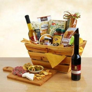 Italian Thank You Gift Basket , Pasta, Marinara Sauce, Olive Oil, Balsamic Vinegar, Olives, Salami and More