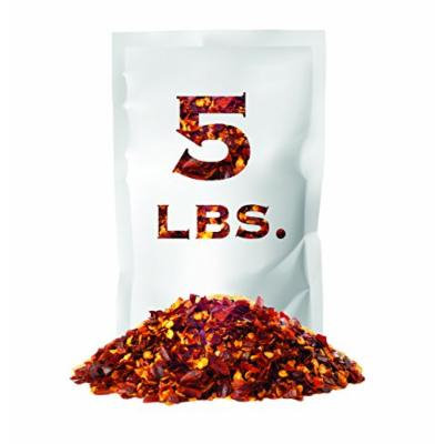 Crushed Red Pepper Flakes , Non GMO Verified , All Natural , Bulk Spice , 5 LB