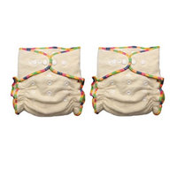 Thx (2 Pack) Hemp/Organic Cotton Heavy Wetter Baby One Size Fitted Cloth Diaper, 2 Inserts