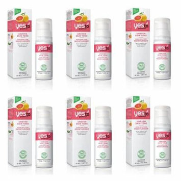 Yes To Grapefruit Uneven Skin Tone, Even Skin Tone Moisturizer, 1.4 Oz (Pack of 6)