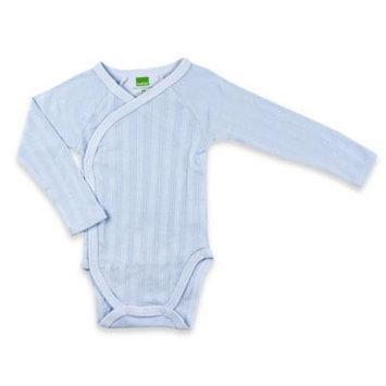 Kushies Baby Kushies Everyday Layette Boys Blue Long Sleeve Wrap Bodysuit