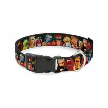 Buckle-Down Muppets 20-Character Group Pose Greens Disney Dog Collar Plastic Clip Buckle, Large