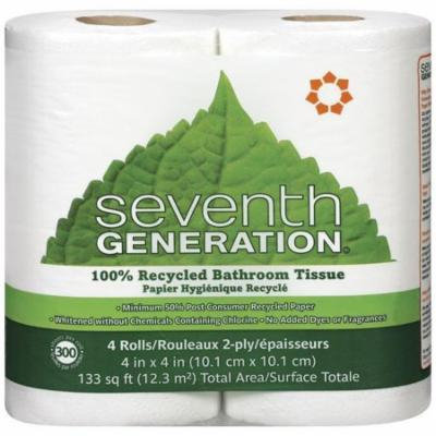 Seventh Generation 100% Recycled Bathroom Tissue 4 Ct (Pack of 12)