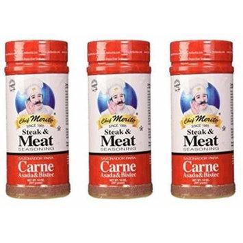 Chef Merito Carne Asada Meat Seasoning, 14 Ounce (Pack of 3)