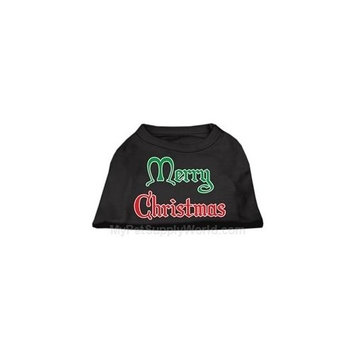 Mirage Pet Products 512511 XLBK Merry Christmas Screen Print Shirt Black XL 16