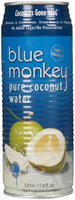 Blue Monkey Water 100% Coconut Water with Pulp, 17.6 Ounce (Pack of 24)