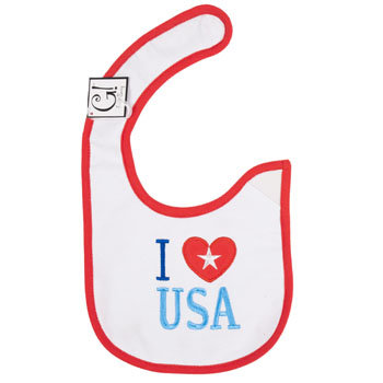 Dollaritemdirect BABY BIB I LOVE USA 12.5 X 8 COTTON, Case Pack of 144