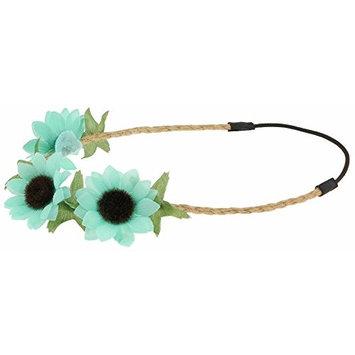 Capelli New York Girls Sunflower Headwrap Mint One Size