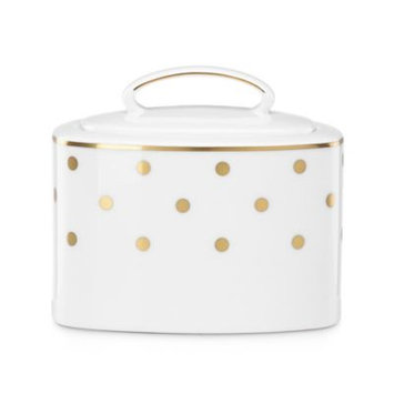 Gap Kate Spade New York Larabee Road Covered Sugar Bowl-WHITE-One Size