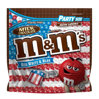 Mars Chocolate M'S Red, White & Blue Milk Chocolate Candy Bag, 42-oz
