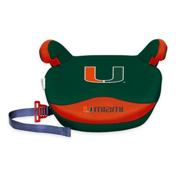 NCAA Backless Booster Seat by Lil Fan, Slimline - Miami Hurricanes